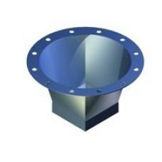 Cuff flexible cylindrical / rectangular