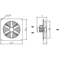 Axial Fan Wall AWFN 560 6M - TYPE A