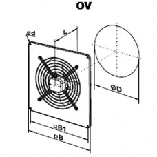OV 2D 250 Axial Fan