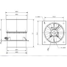 HGHT-V/4- 800 Fan