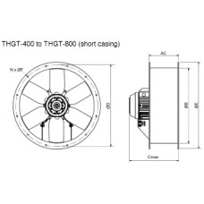 THGT2-500-6/17 Axial Fan 2 poles